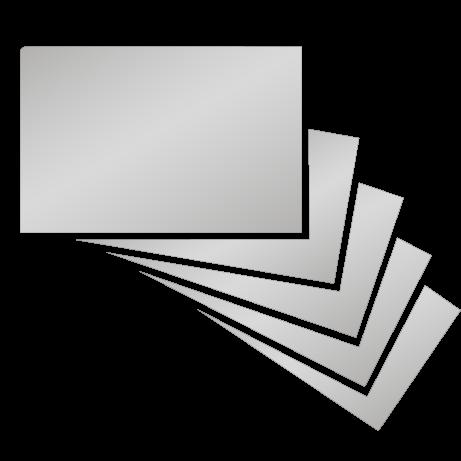 Visitenkarten | partieller UV-Lack beidseitig mit beidseitiger folienkaschierung | beidseitig