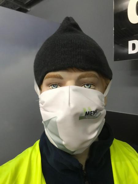 Mundmaske   mit Kopfgummi und Nackenband   individuell bedruckt
